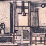 Hamza műterem 1966 pitt kréta papíron