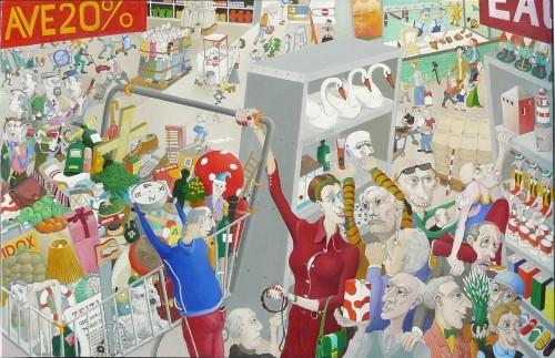 18-49 (Dolgos évek) 2012 olaj, rétegelt lemez 46x72