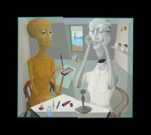 Mosolyogj és használj több festéket! 2012 olaj, farost 80x90
