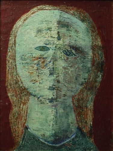 Melanie hercegkisasszony, aki megszökött otthonról és vándorkomédiásnak ált 1966 olaj, vászon 40x30 cm