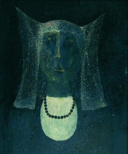 Hölgy (Nagyasszony) 1967 olaj vászon, 46,5x38cm